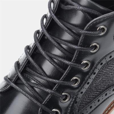 Vintage Patchwork Personality Classic Lace Up Boots
