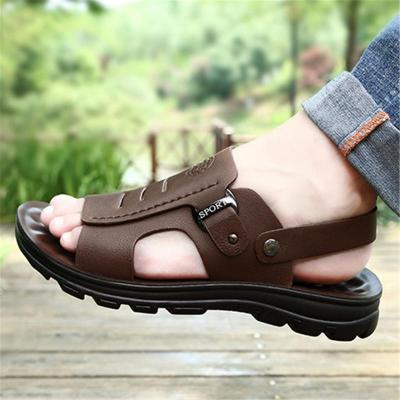 Mens Casual Non Slip Fashion Leather Sandals