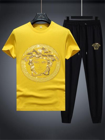Casual Breathable Comfy Workout Short Sleeved T-Shirts+Pants