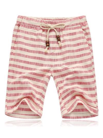 Mens Fashion Plaid Pattern Vertical Shorts
