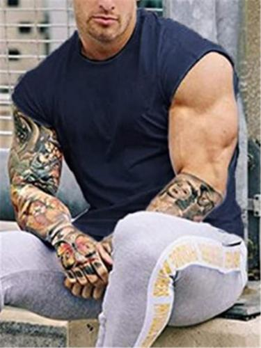 Mens Casual Fashion Exercise Comfy T-Shirts
