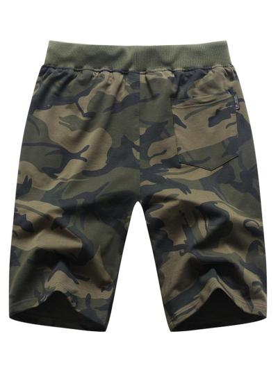 Mens Breathable Camo Print Fashion Sports Casual Shorts