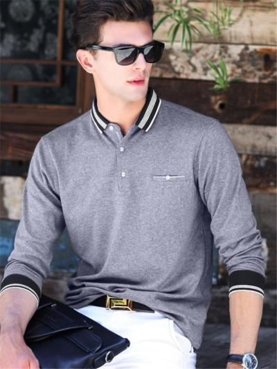 Mens Breathable Business Patchwork Long Sleeve Casual Shirts