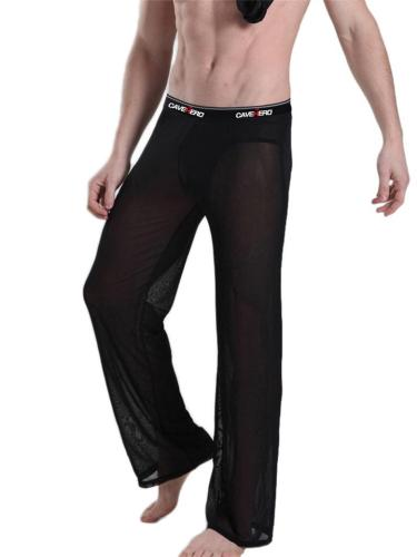 Mens Sexy Mesh Quick Dry Yoga Casual Pants