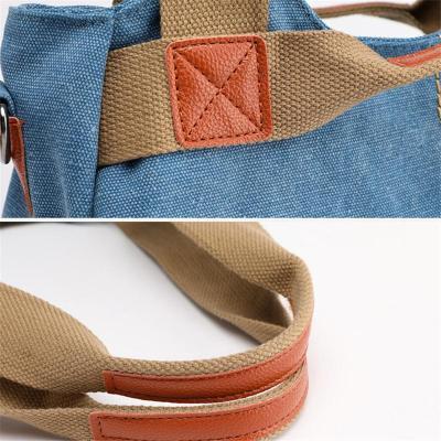 Ladies' Large capacity fine stitching multi-pocket Soft-Touch Crossbody Shoulder Bag