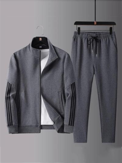 Workout Comfy Plain Long Sleeved Outwear+Pants