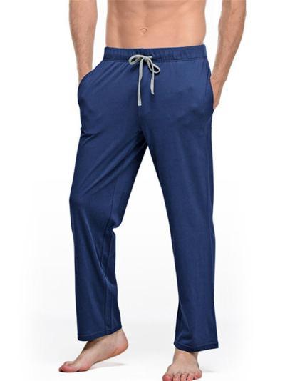 Mens Casual Comfy Soft Solid Color Pants