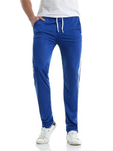 Mens Comfy Vertical Striped Sports Casual Pants