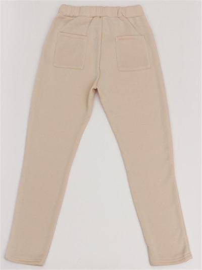 Comfortable Fleece Tracksuit Set Round Neck Long Sleeve Sweatshirt + Drawstring Pocket Pants