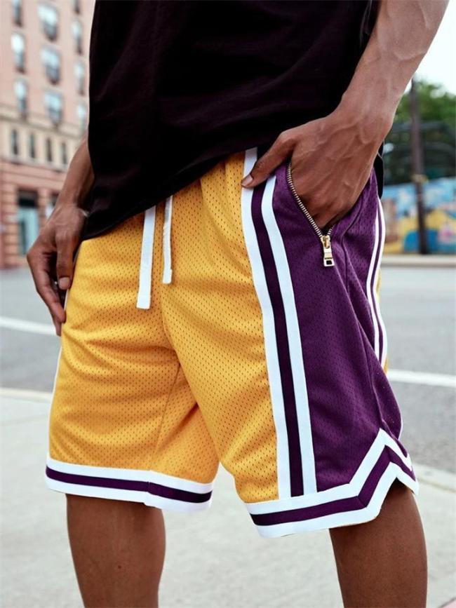 Mens Outdoor Running Training Mesh Slim Fit Shorts