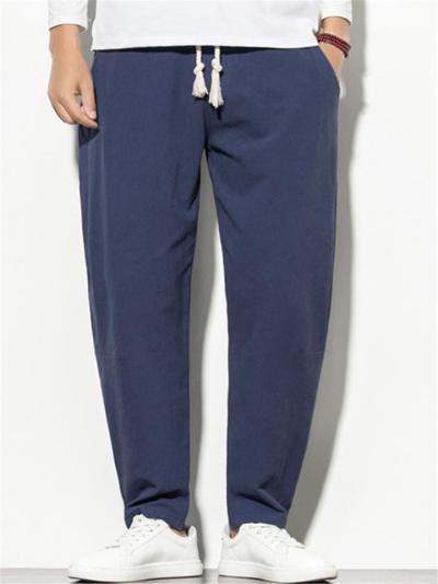Mens Casual Vintage Loose Harem Pants