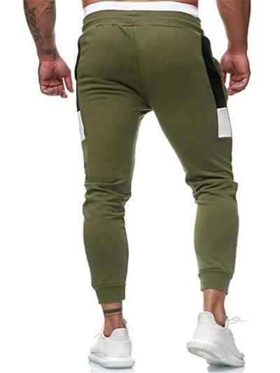 Mens Sports Patchwork Slim Fit Ankle Pants