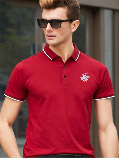 Mens Breathable Business Knitted Short Sleeve Shirts