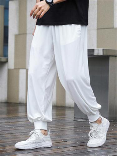 Mens Casual Lightweight Ankle Sports Pants