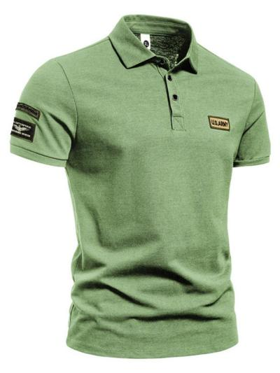 Mens Training Solid Color Casual Short Sleeve Shirts