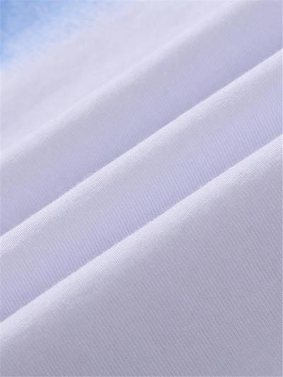 Mens Workout Fashion Breathable Print Short Sleeve T-Shirts+Shorts