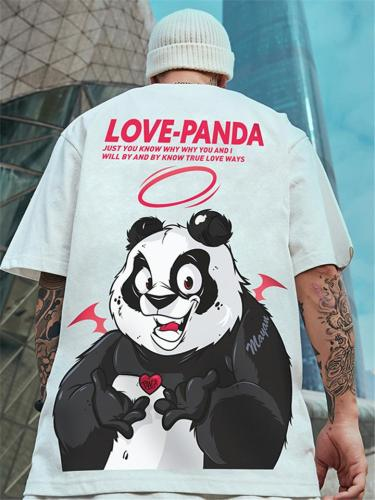 Mens Fashion Hip Hop Oversized Cartoon Print Short Sleeve T-Shirts