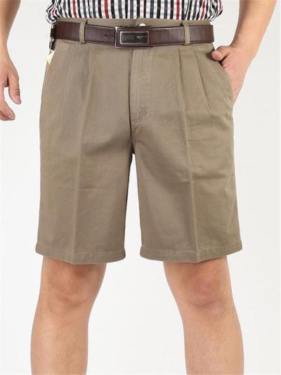 Mens Casual Loose Cotton Cargo Knee Shorts