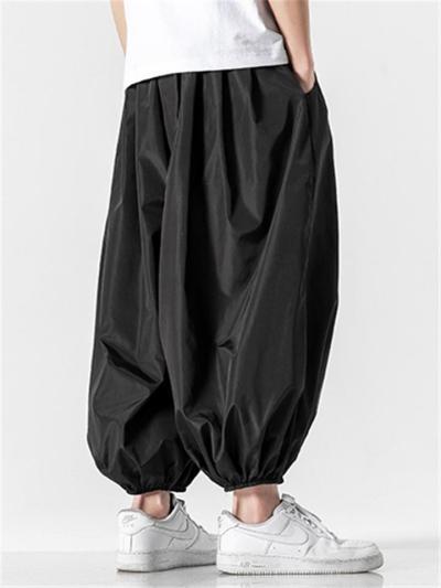 Mens Lightweight Loose Baggy Hip Hop Harem Pants