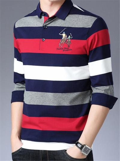 Mens Breathable Business Knitted Long Sleeve Shirts