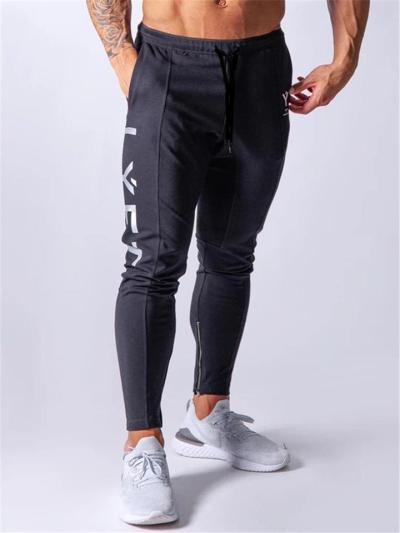 Mens Gym Training Print Slim Fit Ankle Pants