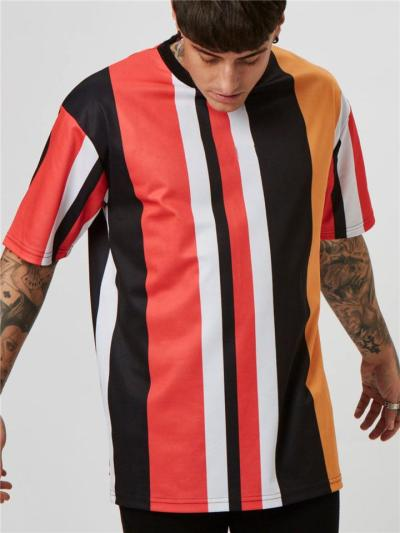 Mens Fashion Gym Training Contrast Color Short Sleeve T-Shirts