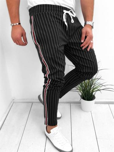 Mens Stylish Striped Casual Ankle Pants