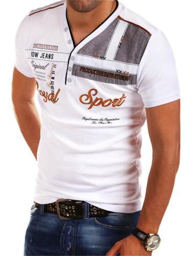 Mens Fashion Print Personality Casual Short Sleeve Shirts