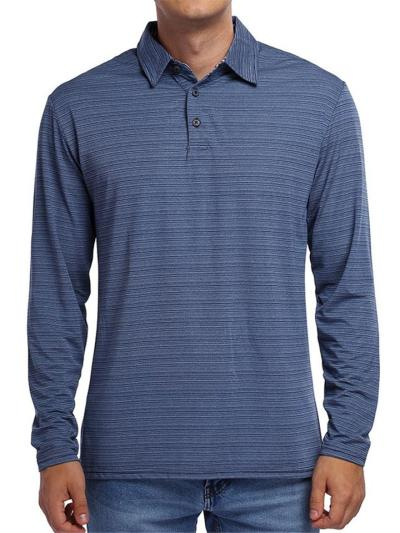 Mens Fashion Casual Striped Sports Long Sleeve Shirts