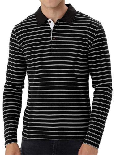 Mens Fashion Casual Striped Long Sleeve Shirts
