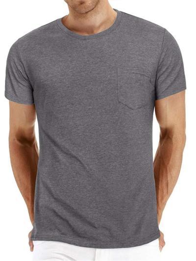 Mens Casual Plian Comfy Short Sleeve T-Shirts
