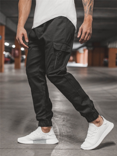 Mens Fashion Loose Sports Pants With Side Pockets
