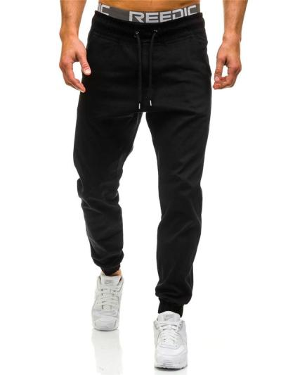 Mens Comfy Sports Ankle Pants With Exposed Waistband