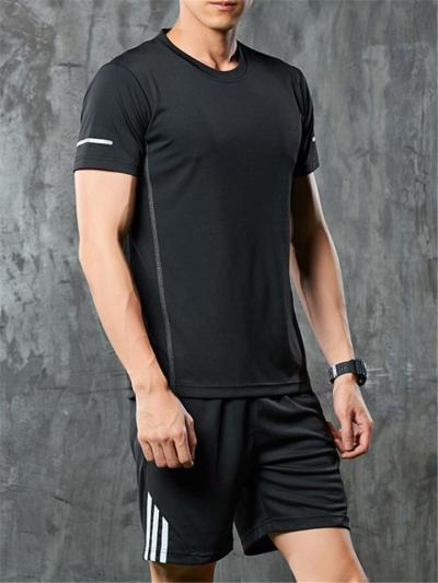 Mens Loose Breathable Comfy Short Sleeve T-Shirts+Shorts