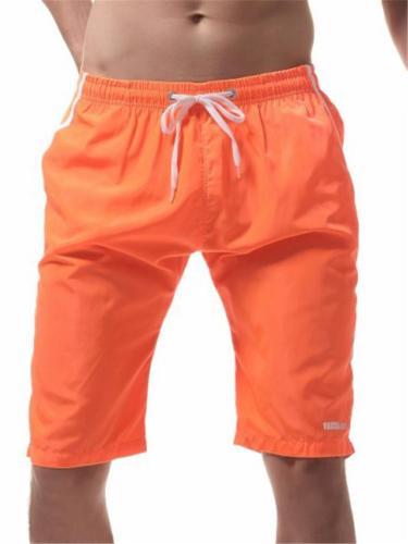 Mens Casual Summer Beach Knee Shorts