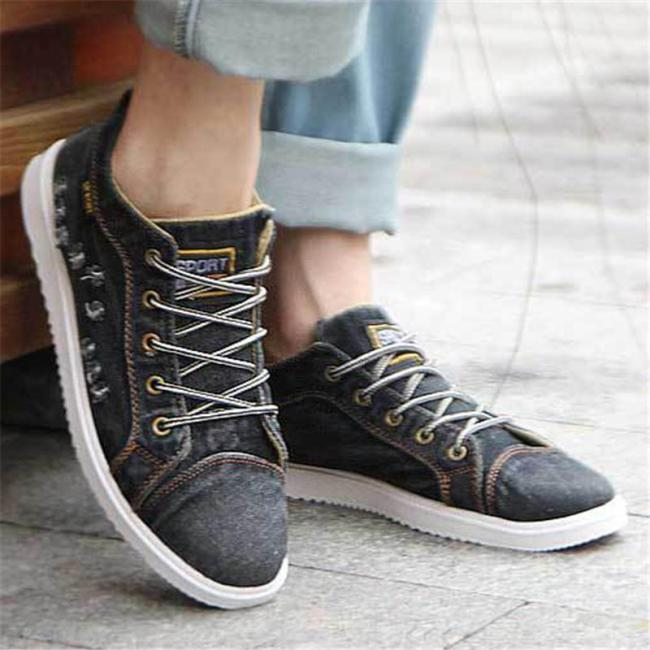 Mens Lightweight Breathable Canvas Casual Shoes
