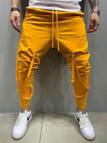 Mens Fashion Hip Hop Personality Gym Pants