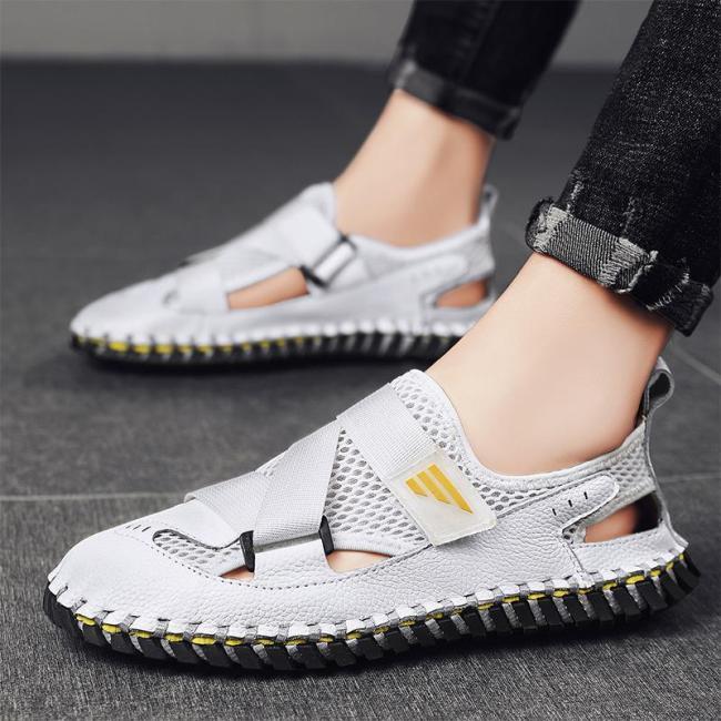 Mens Summer Breathable Stitching Non Slip Sandals