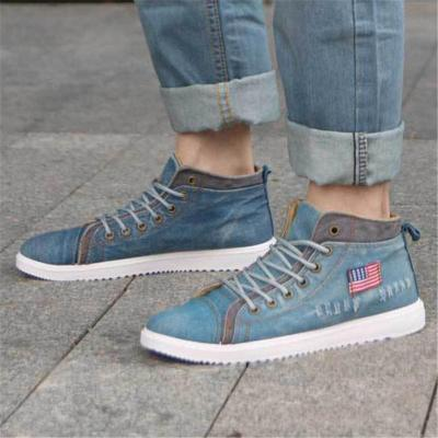 Mens Lightweight Breathable Canvas High Top Shoes