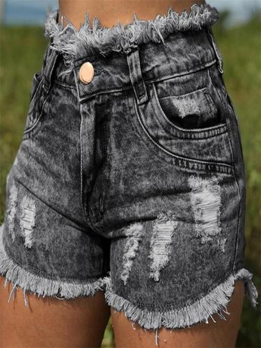 Women's High Quality Ripped Frayed Hem Hot Shorts