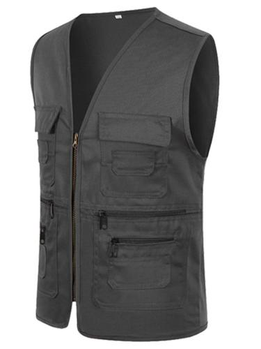 Mens Outdoor Work Vests With Pockets