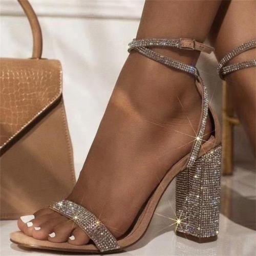 Buckle-Fastening Strap Chunky Heel High Platform Sandals