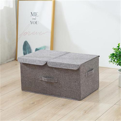 High-Quality Foldable Storage Box With Double Lids And Compartments
