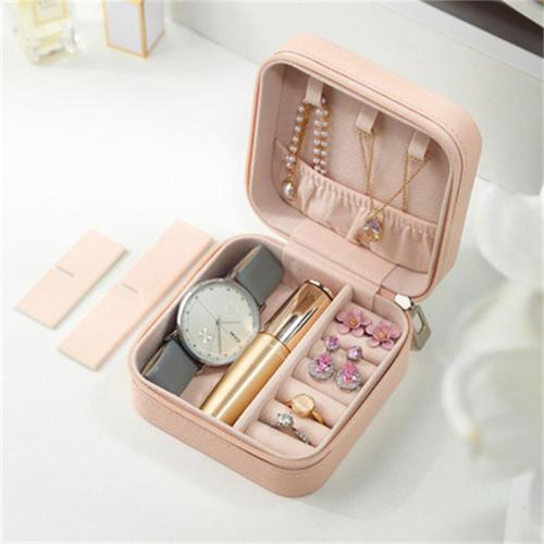 Portable Travel Flannel Jewelry Storage Box