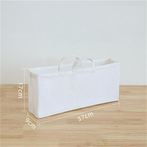Simple Style Portable Folding Cotton And Linen Large Storage Bag