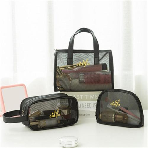 Three-Piece Set Mesh Transparent Breathable Storage Bag