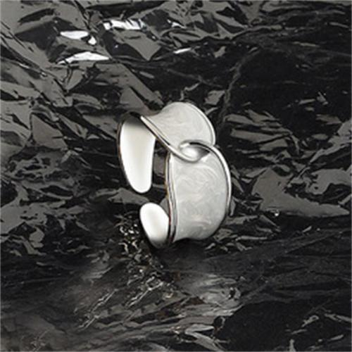 Simple Style Opening Adjustable Design Ring