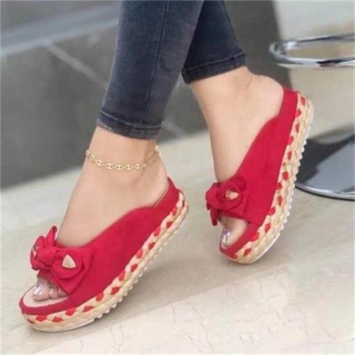 Women's Fashion Bow Deco Platform Sandals