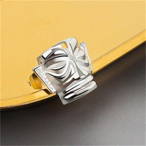Retro Ethnic Style Opening Adjustable Design Mask Ring