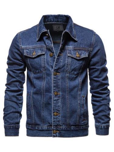 Mens Classic Slim Fit Casual Denim Jackets